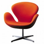 fauteuil-swan-chair-orange-arne-jacobsen