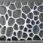 voronoi marble bookcase decorative shelving