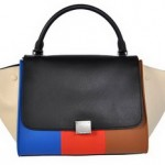 Celine_Trapeze_Bag_colorblock_blue_orange_beige